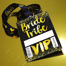 Bride Tribe VIP passes lanyards