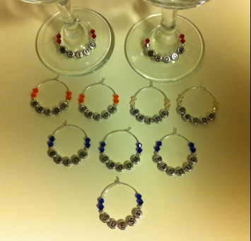 Cheap wine glass charms