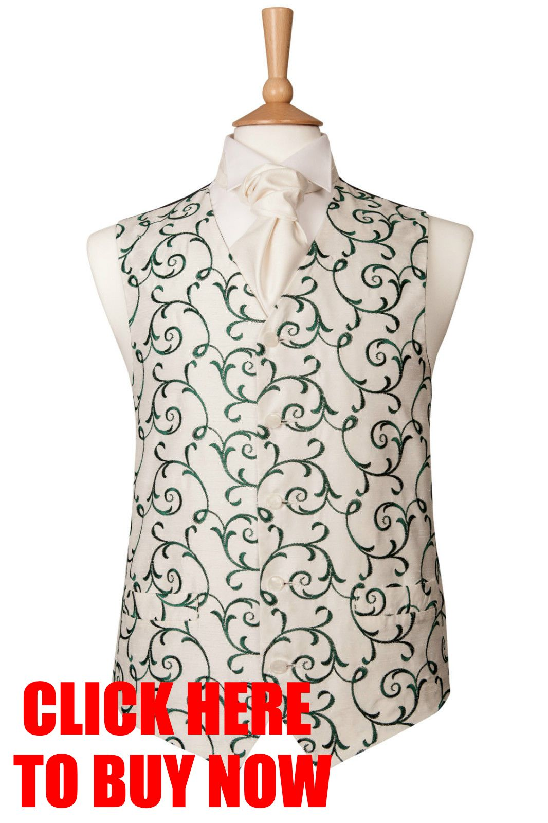 MENS-IVORY-GREEN-SWIRL-WEDDING-SUIT-WAISTCOAT-IDEAL-CHRISTMAS-XMAS-PRESENT
