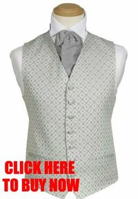 MENS-WEDDING-SILVER-GREY-DIAMOND-DRESS-SUIT-WAISTCOAT-38-40-42
