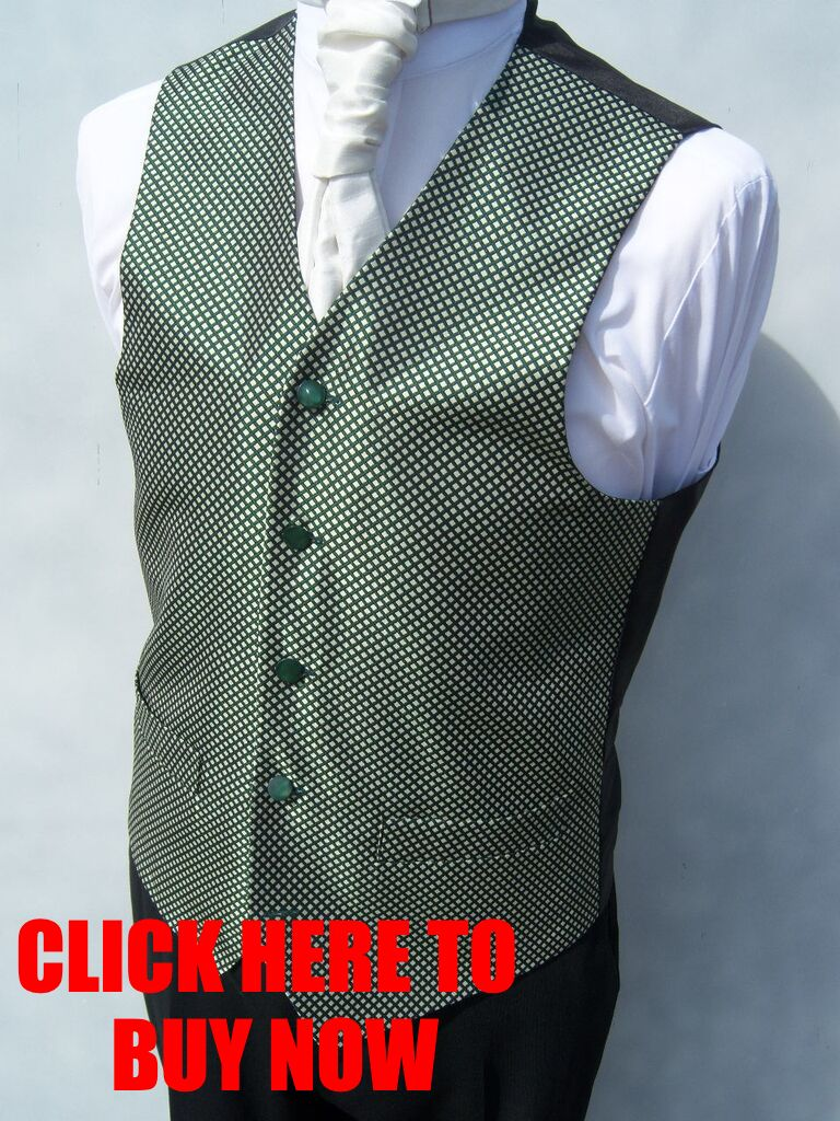 WEDDING-IVORY-GREEN-DIAMOND-DRESS-SUIT-WAISTCOAT-IDEAL-CHRISTMAS-XMAS-PRESENT